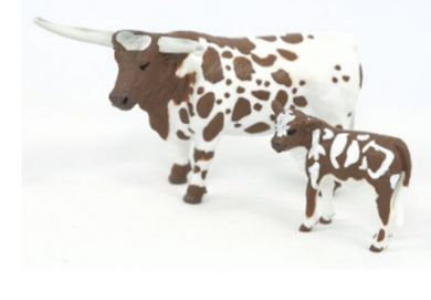 BIG COUNTRY TOYS 1/20TH LONGHORN COW & CALF