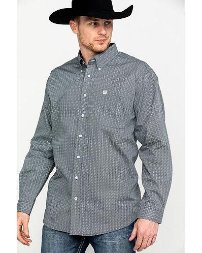 Cinch Men's Tencel Diamond Geo Print Long Sleeve Western Shirt