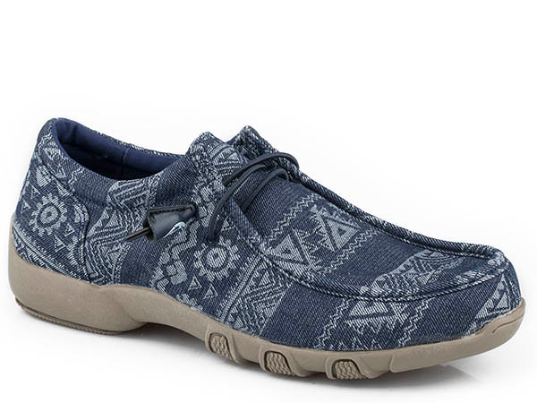WOMENS FOOTWEAR   DRIVING MOC LACE UP FABRIC UPPER