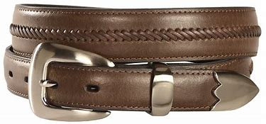 Nocona Men's Brown Leather Stitched Tapered Western Belt N2417202