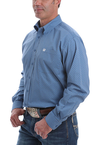 CINCH MENS L/S PRINT 10/20 - BLU