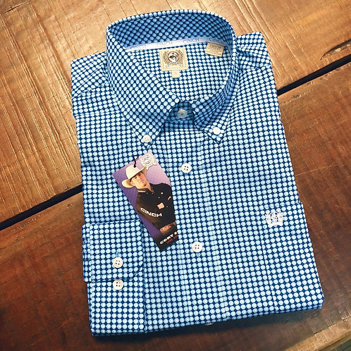 Cinch Mens Shirt - Tully Blue