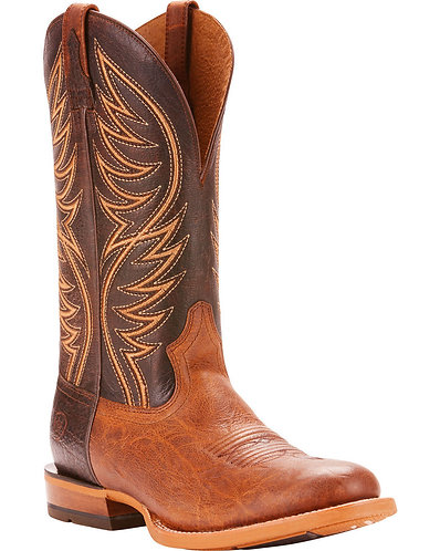 Ariat Men's Slick Fork Tobacco Toffee Performance Cowboy Boots - Round Toe