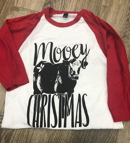 MOOEY CHRISTMAS BASEBALL TEE