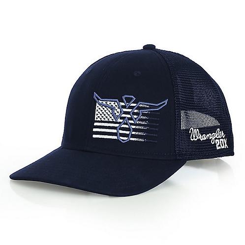 Wrangler 20X Steerhead Flag Graphic Snapback Cap