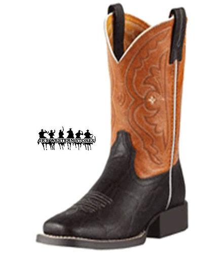 Ariat Mandarin/Chocolate Quickdraw Kid's Boot