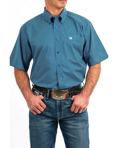 Cinch Men's Geo Print Short Sleeve Western Shirt