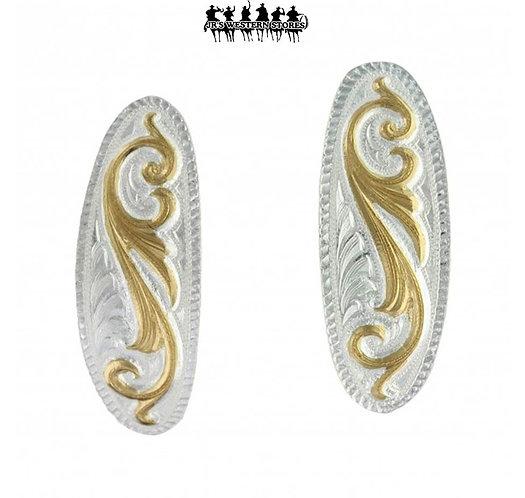 Classic Small Scroll Design Cuff Earrings