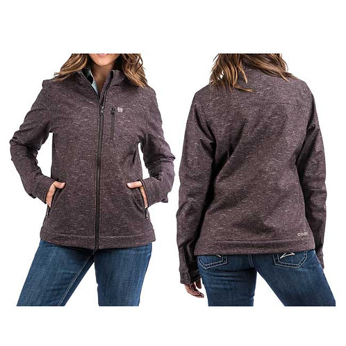 Cinch Charcoal Fleece Line Soft Shell Jacket for Ladies