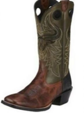 Ariat Western Boots Mens Wild Ride Leather Brush Creek- 10016283
