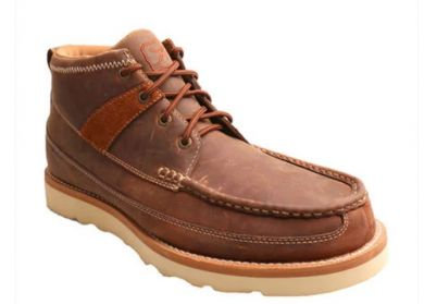Twisted X Oiled Brown Leather Mens Boots Moc Toe MCA0007