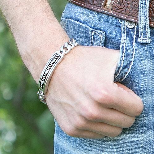 MONTANA SILVERSMITHS Western Gates Barbed ID Bracelet