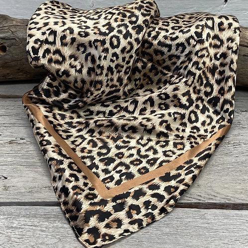 Tan Leopard Wild Rag/Scarf #WR168