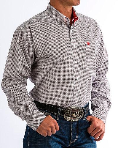 Cinch Men's Basketweave Print Western Shirt