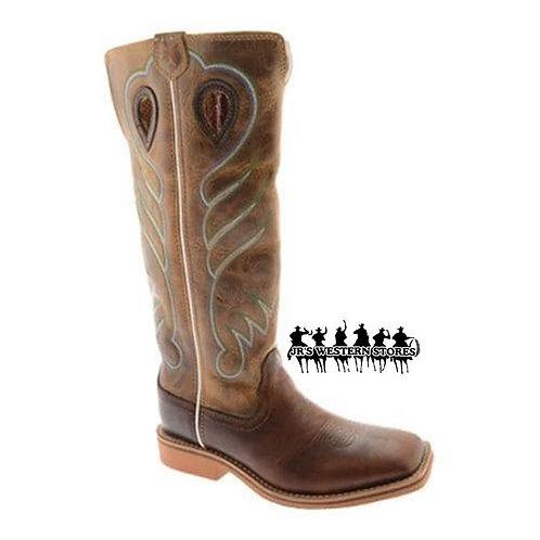 Twisted X Saddle/Hazel Buckaroo Kid's Boot
