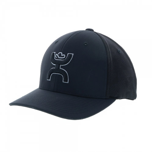 "HOOey ""Mosaic"" Black/Black Flexfit Cap, YOUTH"