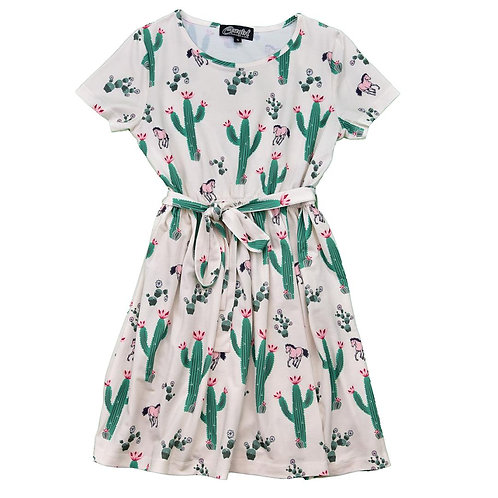 COWGIRL HARDWARE YTH Mixed Cacti w/Horses S/S Dress