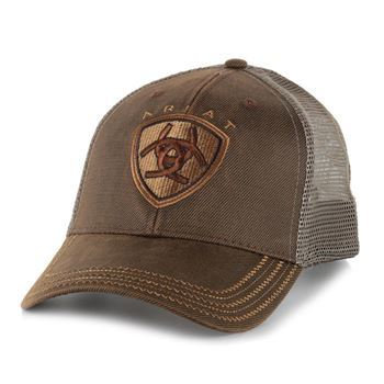 Ariat Men's Logo Mesh Trucker Ball Cap