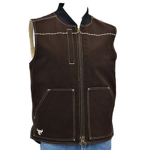 Cowboy Hardware Logo Workwear Canvas Vest