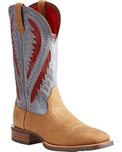 Ariat Men's Tan Quickdraw VentTEK Western Boots  - Square Toe 10023213