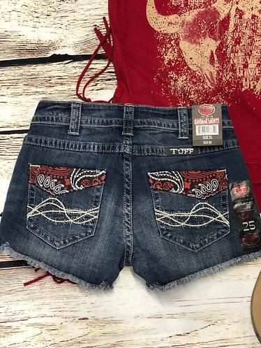 Cowgirl Tuff Bandana Shorts