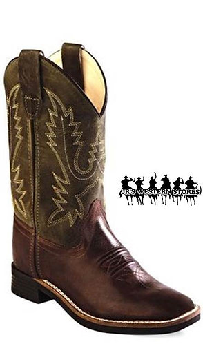 Old West Hunter/Chocolate Square Toe Kid's Boot