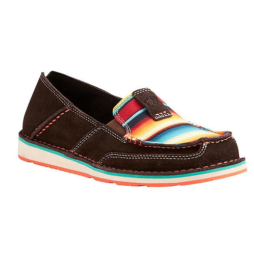 Ariat Women's Chocolate Fudge/Sunset Serape Cruiser Slip On Shoes