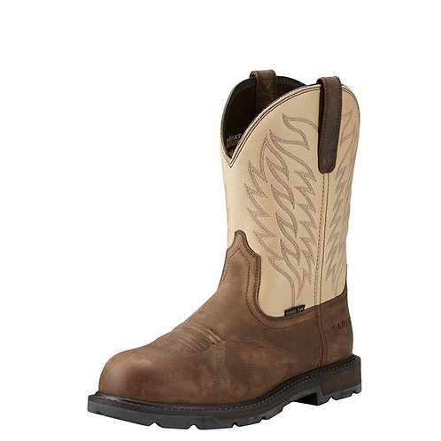 ARIAT MEN'S HARVEST ROUND STEEL TOE BOOT