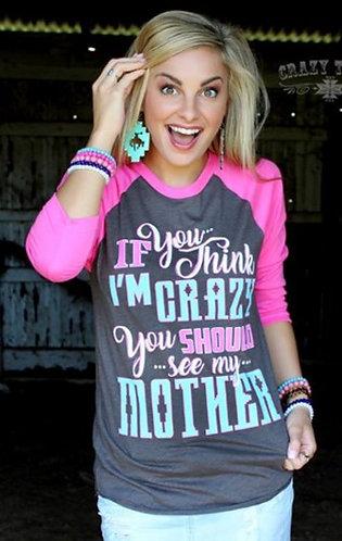Crazy Train Crazy Mother Baseball Tee 3010