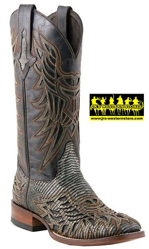Lucchese Black Lizard Inlay Boots