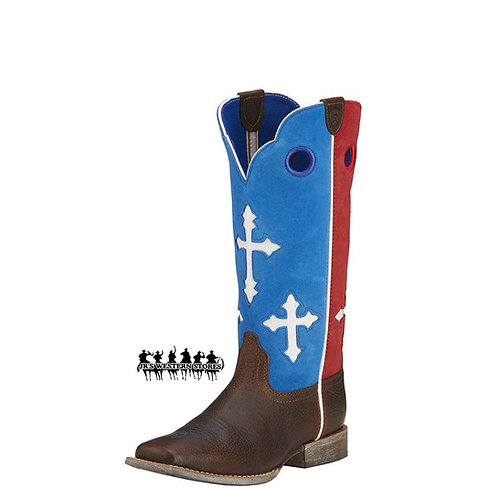 Ariat Ranchero Red/Blue Cross Kid's Boot