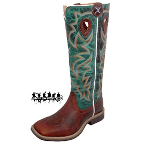 Twisted X Cognac/Green Stovetop Kid's Boot