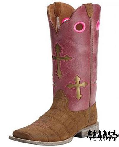 Ariat Ranchero Fushia/Gator Print Kid's Boot