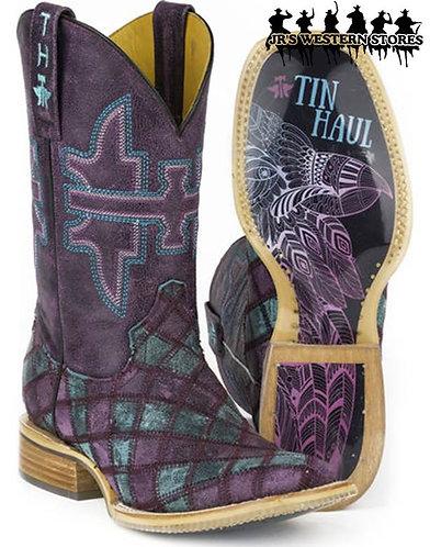 Tin Haul Purple Eagle Boots