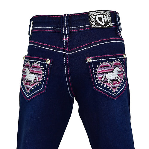 Cowgirl Hardware Toddler Heart Horse Jeans