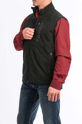 CINCH MENS WINDPROOF VEST 10/19 II - BLK