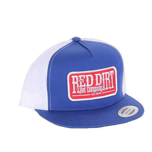 RED DIRT HAT CO.'S TAG ROYAL WHITE CAP RDHC156