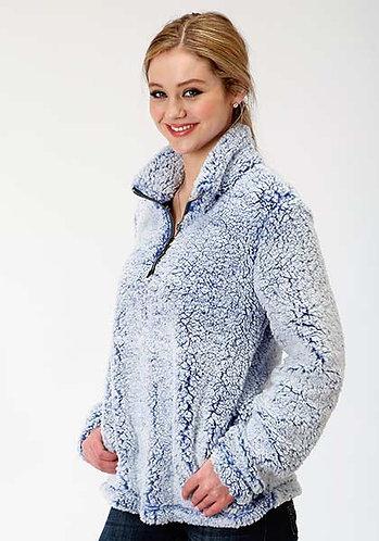 Roper Ladies Fuzzy Fleece Pullover * 1/4 Zip