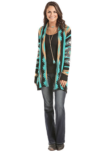 ROCK & ROLL COWGIRL  ALLOVER COLORFUL AZTEC