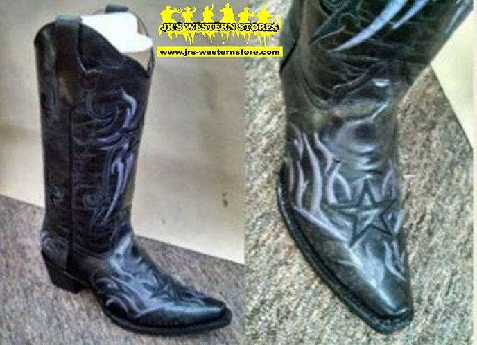 Circle G Black Star Boots