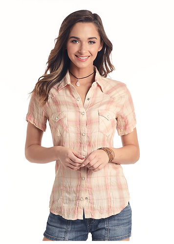 Panhandle Slim Ladies SS SNAP PH PLAID