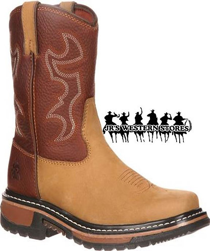 Rocky Crazy Horse/Bridle Brown Kids Work Boot