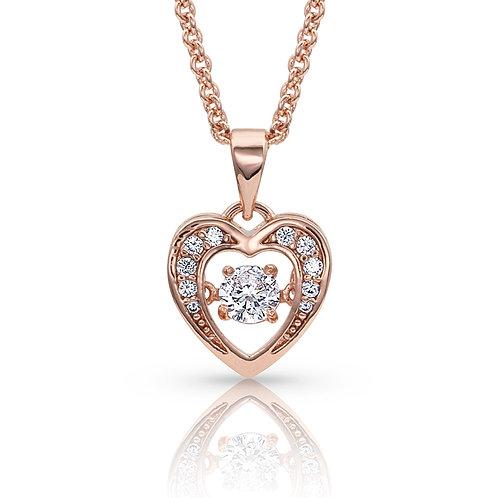 MONTANA SILVERSMITHS Let's Dance A Little Dance Rose Gold Heart Necklace
