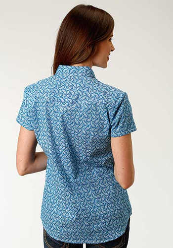 34dfc59bf4200a Roper Ladies Short Sleeve Western Shirt