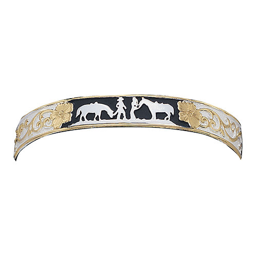 Montana Silvermiths Between Friends Bracelet With Black Accents