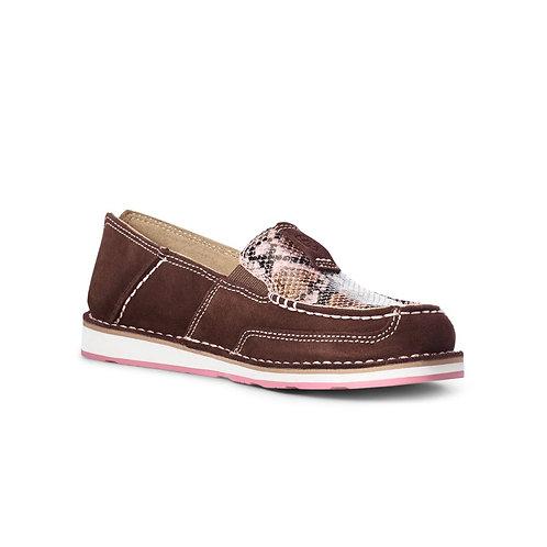 Ariat® Ladies Snake Print and Coffee Bean Cruiser Shoe 10035829