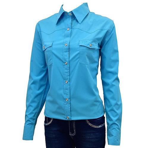 COWGIRL HARDWARE LADIES Bamboo L/S Solid