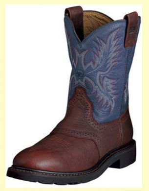 "Ariat Men's Sierra Saddle 10"" Boots in Blue Indigo and Redwood 10002306"