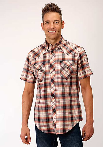 MENS ROPER S/S SHIRT ROPE PLAID