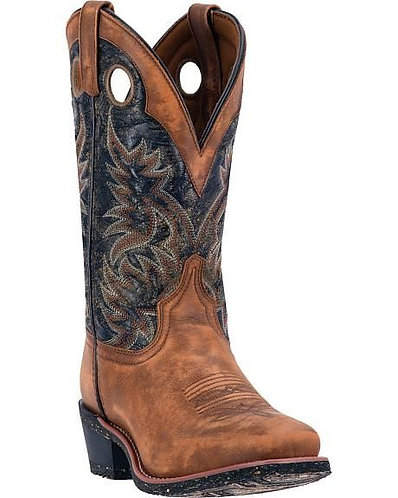 Laredo Black Square Toe Mens Western Cowboy Boots 68358